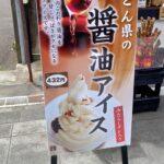 琴平温泉街の醤油アイス